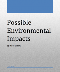 Lehigh University Marcellus Shale - Possible Environmental Impacts