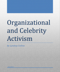 Lehigh University Marcellus Shale - Organizational and Celebrity Activism